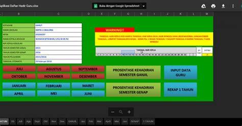 gratis aplikasi daftar hadir guru versi