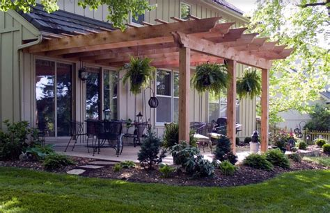 pergola attached   house nice touch home decor
