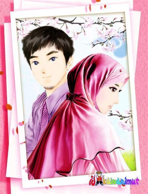 anime islami romantis islam itu indah gambar kartun