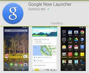 Google Now Launcher ya disponible en Google Play