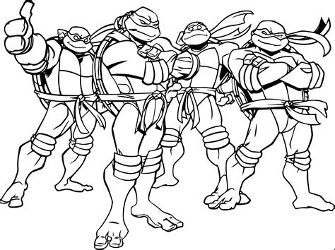Free Printable Kids Coloring Pages Ninja Turtles The Art