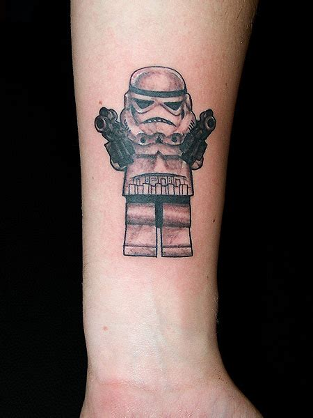 lego stormtrooper tattoo  wrist tattoomagz tattoo