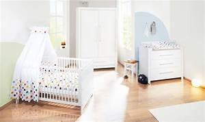 Chambre Bébé Bois Massif : chambre b b puro massif lasur blanc avec petite armoire ~ Teatrodelosmanantiales.com Idées de Décoration