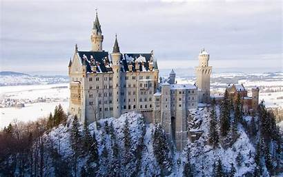 Castles Wallpapers Castle Snow Desktop Fantasy Landscapes