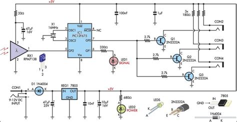 Infrared Remote Extender Circuit Diagram
