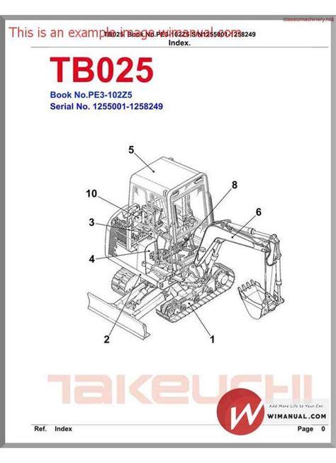 takeuchi wiring schematic wiring diagram