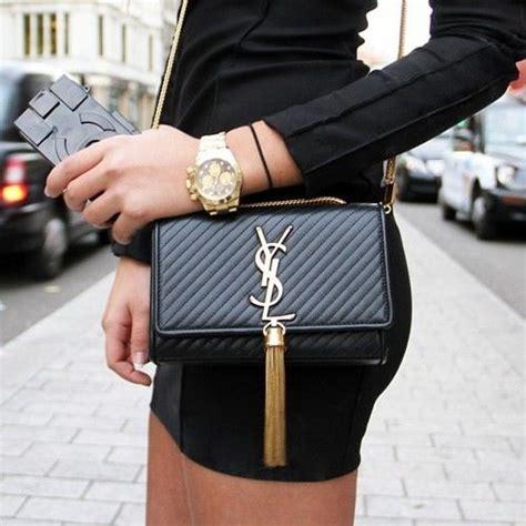 ysl black gold clutch bag   bags pinterest bags cheap burberry  chanel bags