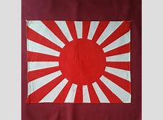 WWII Japanese Rising Sun Handheld Flag