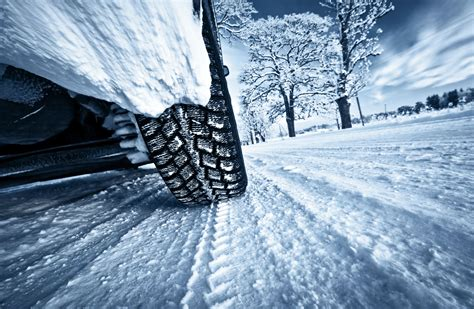 Winter Snow Car Wheel Road Wallpaper