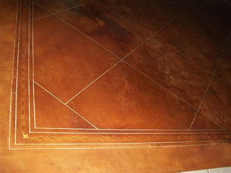 diy stained concrete floors used quilters instead of