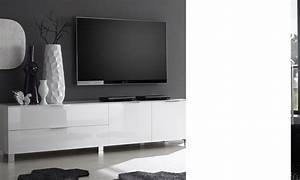 Banc Tv Design : meuble tv blanc design ~ Teatrodelosmanantiales.com Idées de Décoration