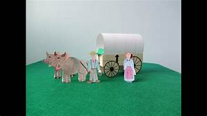 School Roll Template 3d Covered Wagon Project Youtube
