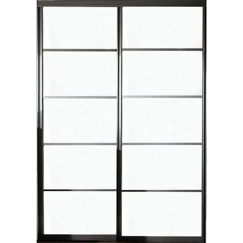 26 interior door home depot 60 in x 81 in silhouette 5 lite aluminum bronze finish