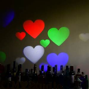 Led project landscape multi color outdoor holidays heart