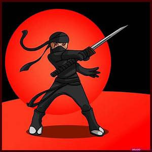 How to Draw Ninja, Step by Step, Figures, People, FREE ...
