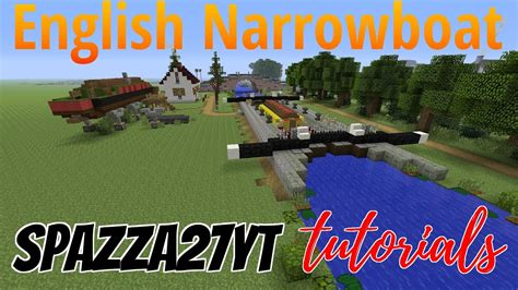 Minecraft Boat Canal by Narrowboat Canalboat