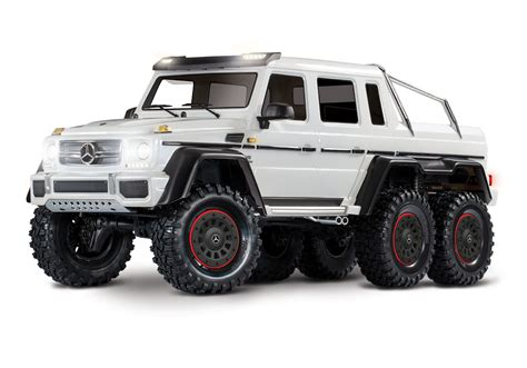 Online mercedes magazin mit fahrberichten tests insider news tuning klassik youngtimern und community. 1/10 Mercedes-Benz G 63 AMG 6x6 RTR Scale and Trail Crawler - White - Hub Hobby