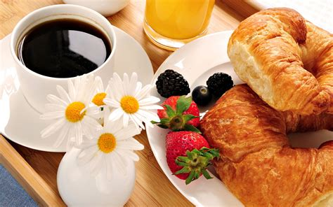 Coffee for breakfast 11482 burbank blvd. Breakfast in Bed, Coffee, Orange Juice and Croissants   FOODS