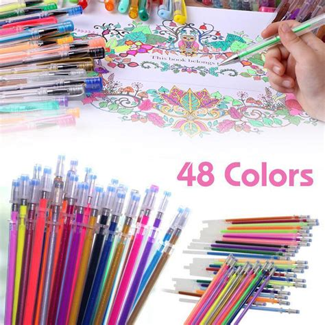 colors gel pens glitter coloring drawing painting craft