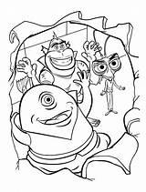 Coloring Monsters Funny Vs Aliens Mostri Colorare Disegni Colorkid sketch template