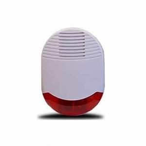 sirene gyrophare a pile pour alarme maison sans fil orum With alarme maison sirene exterieure