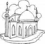 Ramadan Drawing Mosque Coloring Eid Getdrawings Pages sketch template