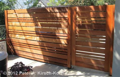 Custom Modern Horizontal Wood Fence
