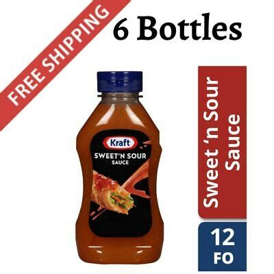 pack kraft sweet  sour sauce  fl oz bottle ebay