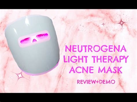 Neutrogena light therapy acne mask review and demo - YouTube