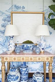 Decorating with Blue and White Porcelain