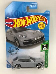From the back of the 2019 card: 2019 Hot Wheels PORSCHE PANAMERA TURBO S E-HYBRID SPORT TURISMO HW Green Speed | eBay