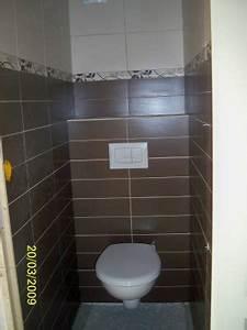 carrelage wc contemporain With carrelage adhesif salle de bain avec kit led auto