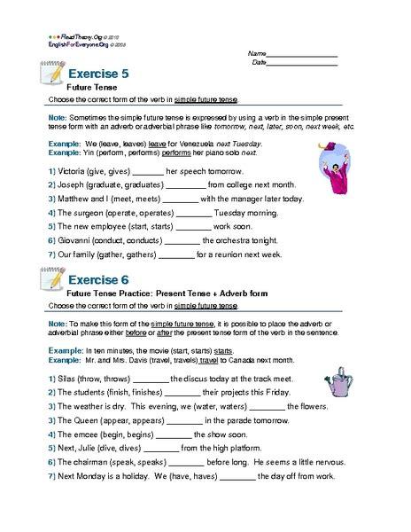 simple future tense worksheet grade 3 grammar lessons