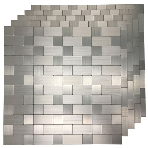 artd  pack  adhesive metal backsplash peel  stick tile  kitchen  ebay