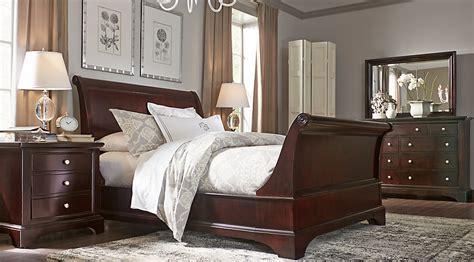 Sleigh Bedroom Set by Whitmore Cherry 6 Pc Sleigh Bedroom Bedroom