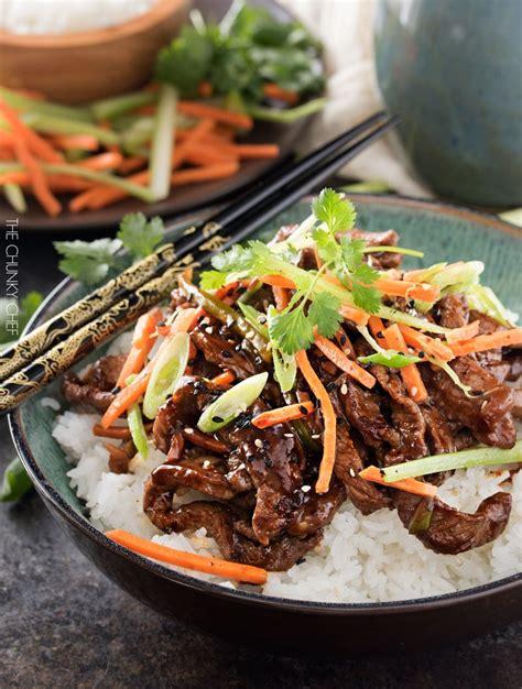 szechuan beef 30 minute spicy ginger szechuan beef the chunky chef