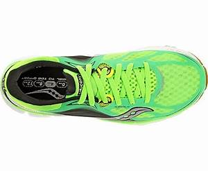 Men s Saucony Kinvara 5 Running Shoe Neon Green Black