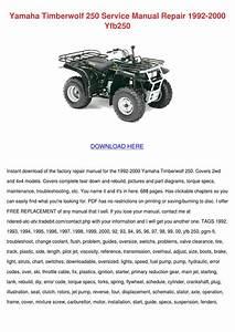 Yamaha Timberwolf 250 Service Manual Repair 1 By Sharee