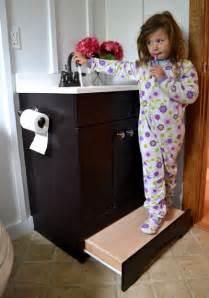Bathroom Vanity With Step Stool White Vanity Step Drawer Diy Projects