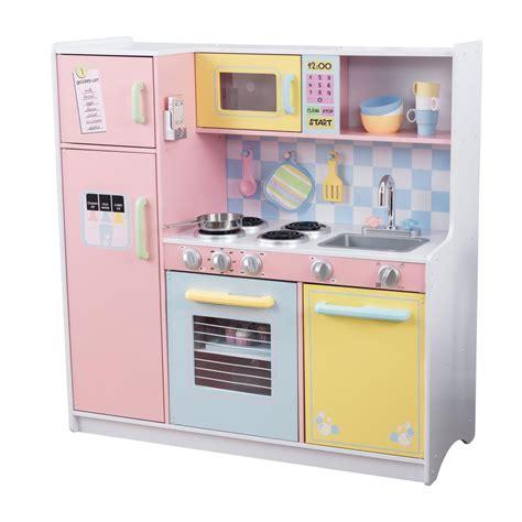 Kiddie Kitchen Play Set by Kidkraft Large Pastel Kitchen Playset 53181 The Home Depot