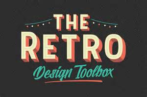 retro design the retro design toolbox 62 fonts and 1147 graphics only 29 pixelo