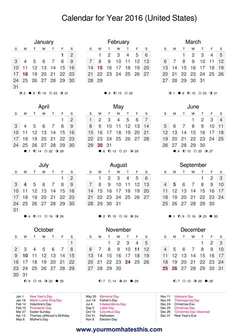 2016 calendar template 2016 calendar