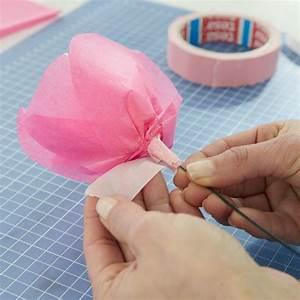 Rosen Aus Seidenpapier : rosen aus seidenpapier basteln basteln ~ Lizthompson.info Haus und Dekorationen