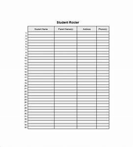 top 4 resources to get free student list templates word With student roster template