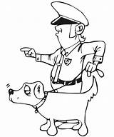 Coloring Police Printable Policeman Want Strong sketch template