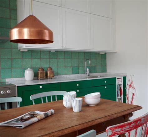 cuisine blanche et verte une touche de couleur dans la cuisine cocon de