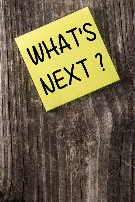 Whats Next Yellow Sticky Note Post It Stock Image - Image ...
