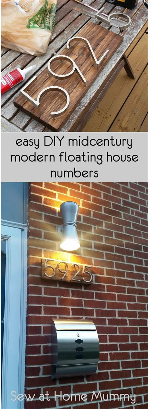 crative ways  display  house numbers