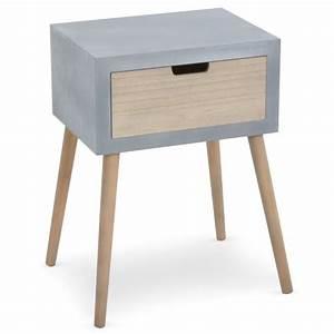 Table De Chevet Ronde : table de chevet tatum gris ~ Teatrodelosmanantiales.com Idées de Décoration