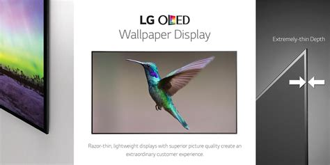 Digital Tv Wallpaper by Oled Ultra Thin Wallpaper Tv Lg Us Business